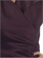 Marie Meunier Flamande Wrap Blouse in Purple
