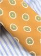 Silk Print Octagon Motif Tie in Ochre