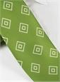 Silk Diamond Printed Tie in Lime
