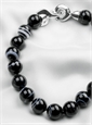 Black and White Onyx Necklace