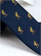 Silk Woven Griffin Motif Tie in Royal
