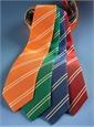 Mogador Silk Double Bar Stripe Tie in Nasturtium