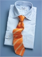 Mogador Silk Double Bar Stripe Tie in Nasturtium