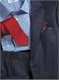 Mid-Blue Mélange Flannel Suit