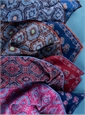 Reversible Paisley and Medallion Print Pocket Squares