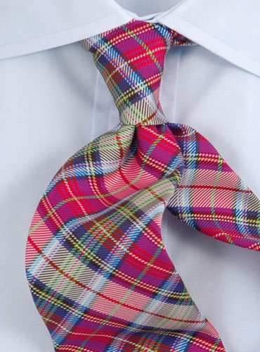 green plaid tie. Woven Plaid Tie Pink, Green amp;