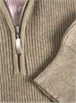 Cashmere Half Zip Sweater in Wheat