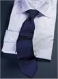 Lilac and Blue Stripe Spread Collar