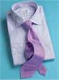 Lilac and Blue Stripe Spread Collar