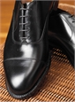 The Alden Straight Tip Bal in Black