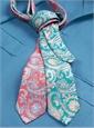 Silk Paisley Printed Tie in Teal