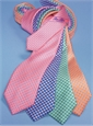 Silk Print Small Diamond Tie in Sage