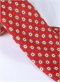 Silk Neat Print Tie in Fire
