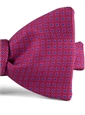 Silk Print Bow with a Square Motif in Cranberry
