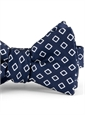 Silk Diamond Motif Bow Tie in Navy