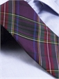 Silk Woven Plaid Tie in Victoria