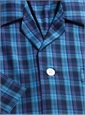 Blue and Navy Plaid Cotton Pajamas