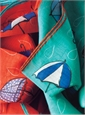 Silk and Cotton Umbrella Motif Pocket Squares