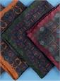 Silk Paisley Motif Pocket Squares