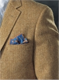 Cinnamon and Yellow Herringbone Harris Tweed Sport Coat