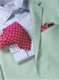 Light Blue & White Stripe Spread Collar