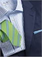 New Navy Suit in 120s Wool Gabardine, Size 39 Short