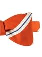 Mogador Striped Bow Tie in Orange