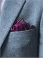Silk Floral and Plaid Print Reversible Pocket Squares