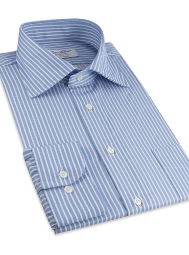 Shirt Twill Blue and White Stripe