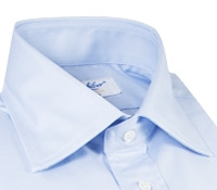 Sky Blue Twill Spread Collar Travel Shirt