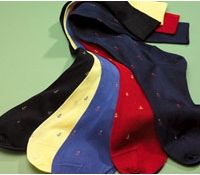 Anchor Motif Cotton Socks