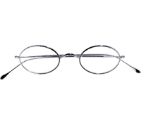 Oval Wire Frames in White Gold