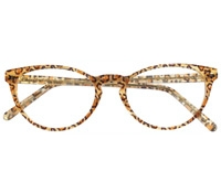 Oval Butterfly Frame in Leopard
