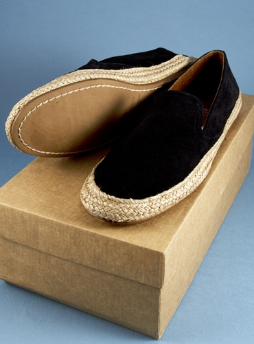 Ladies' Suede Espadrilles in Midnight