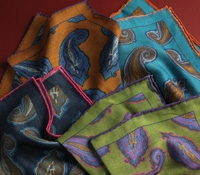 Wool & Silk Paisley Pocket Squares