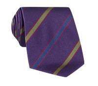 Silk Multi-Color Bar Stripe Tie in Violet