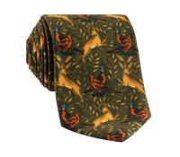 Woodland Printed Tie in Fern
