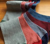 Sea Island Cotton Small Check Socks