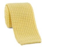 Sea Island Cotton Knit Tie in Yellow
