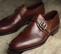 The Chadwick Monk Strap in Antique Chestnut