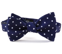 BJ38- Churchill Dot Bow In Navy