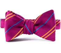 Mogador Double Stripe Bow in Fuchsia