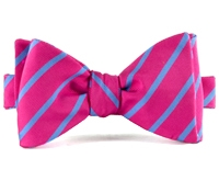 Mogador Bar Stripe Bow in Fuchsia