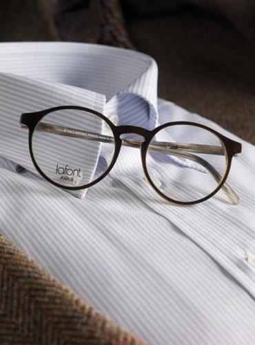 Lafont Pantheon Eyeglass Frames : Lafont Khaki and Tortoise Pantheon Frame