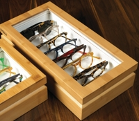 Large Eyewear Chest in Bamboo Finish