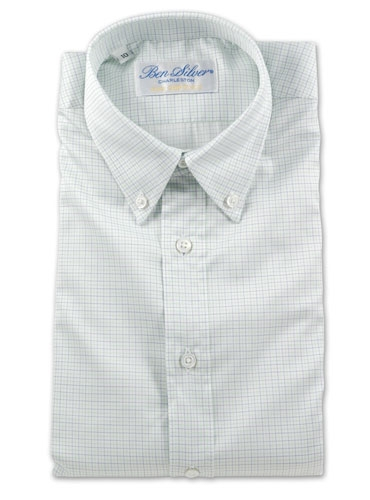Boys Blue and Green Check Shirt