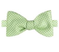 Silk Floral Motif Printed Bow Tie in Lime