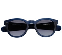 Thick Blue Matte Sunglasses