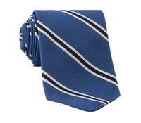 Mogador Woven Stripe Tie in Cobalt