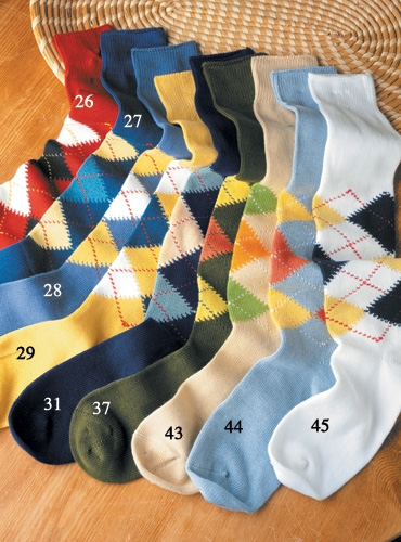 Argyle Socks in Sea Island Cotton